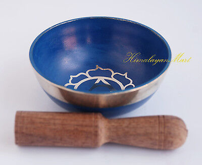 "Tibetan Buddhism Bronze Alloy 3.25"" Singing Healing Meditation Bowl from Nepal"