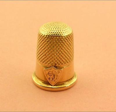 Antique 14K Gold Thimble Excellent Condition 4.1 Gms