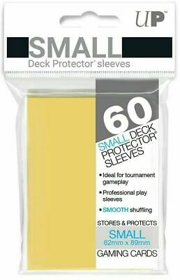 Ultra Pro Deck Protector Small Card Sleeves 60 x YELLOW YuGiOh Vanguard 62x 89mm