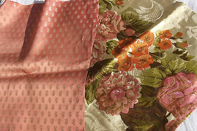 Bundle of Vintage French Fabric Soft Satins Boudoir Silk Scraps Cutters Pack