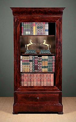 Antique 19th.c. French Mahogany Bookcase c.1830