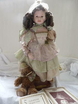 Mundia Limited Edition 248/1000 French Doll in Box Colombine with Certificates