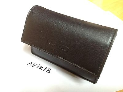 COACH Black Leather Accordian-Style Multi Business Credit Card ID Case