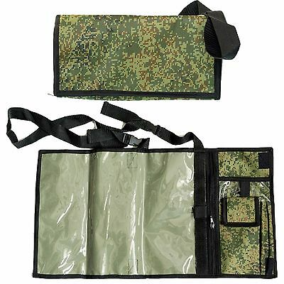 Russian camouflage VKBO army Tactical Map Case digital flora Pouch Document Bag