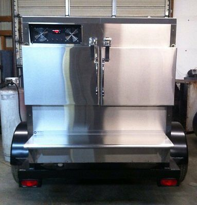 New Commercial Insulated BBQ Gas Rotisserie Smoker Grill