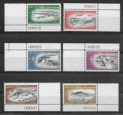 Canal Zone , Us , 1964 , Airmail ,  Set Of 6 W/pl No's , Perf , Mnh