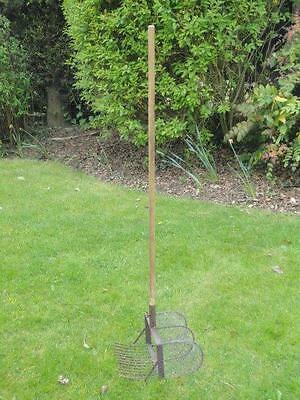 Vintage Garden Rake With Wire Sieve Vegetable Harvester ? Collectable