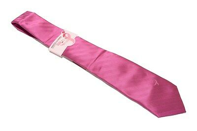 Knots for Hope Men's Solid With Ribbon Neck Tie Pink