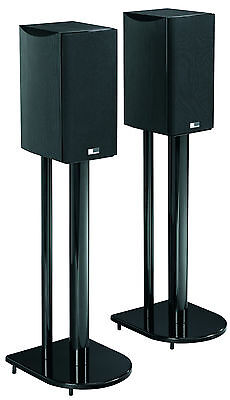 """24"""" Speaker Stands with High Gloss Black Finish"""