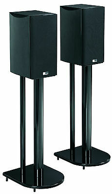 """24"""" Universal Home Theatre Speaker Stands with High Gloss Black Finish"""