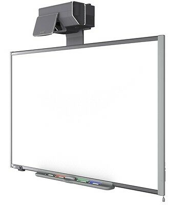 "87"" Sd685 Interactive Smart Board And Projector Ux60 Complete Warranty"
