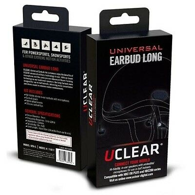UCLEAR Universal Long Ear Buds Noise Cancelation