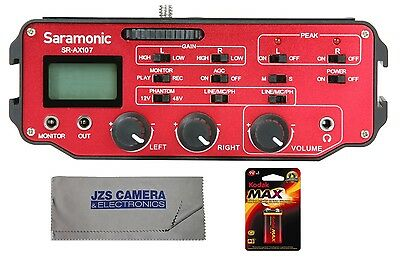 Saramonic SR-AX107 Audio Adapter Kit with Cleaning Cloth & 9V Battery