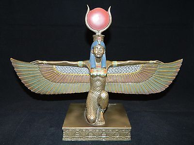 """Egyptian Isis with Open Wings Statue Bronze Finish by Summit 12.5"""" Wide"""