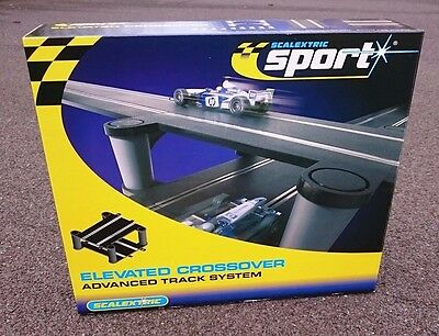 Scalextric C8295 Elevated Crossover & C8226 Support pillars - Brand New - Boxed