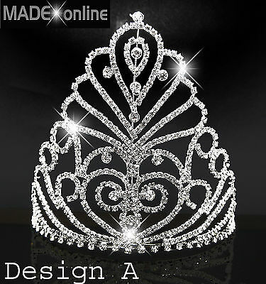 Large Silver Plated Tiara Wedding Pageant,   3 Designs