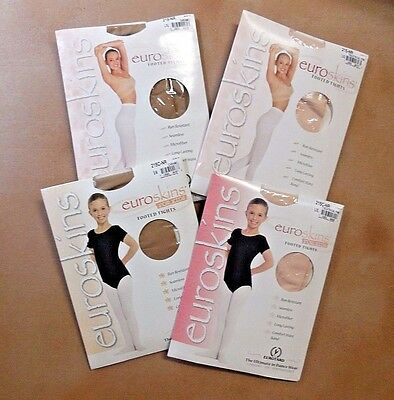 .NEW in Package Eurotard Euroskins Footed Tights Child Adult Th. Pink or Caramel