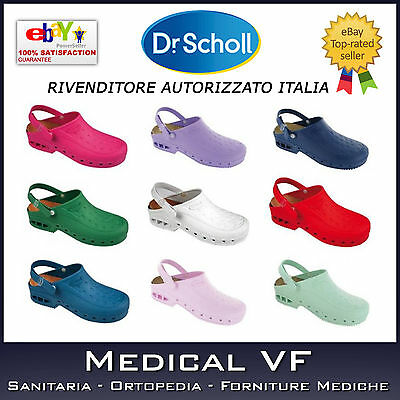 NEW WORK TIME Dr.Scholl SCARPA LAVORO ZOCCOLO CON CINTURINO WORKTIME  ANTISTATICO b5dcb230bce