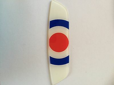 Lambretta Rear Frame Badge Target Reduced To Clear