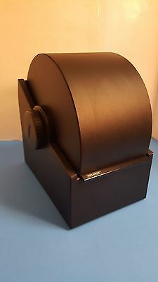 Vintage ROLODEX Model 3500S Large Black Steel Metal Covered Rotary Card File