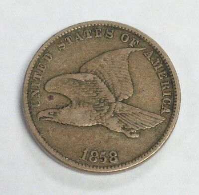 1858 Flying Eagle Cent, Small Letters, VF Condition, Free Shipping!