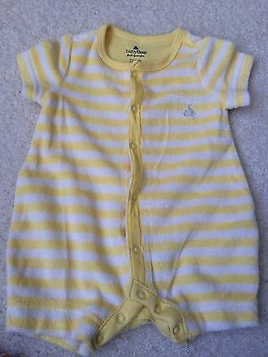 Newborn/Infant Baby Gap Unisex Short Sleeve One-Piece Outfit-Yellow/White-0-3M
