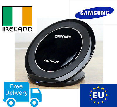 SAMSUNG GALAXY S7 S8 EDGE Fast Wireless Charger BLACK Qi Charging stand pad