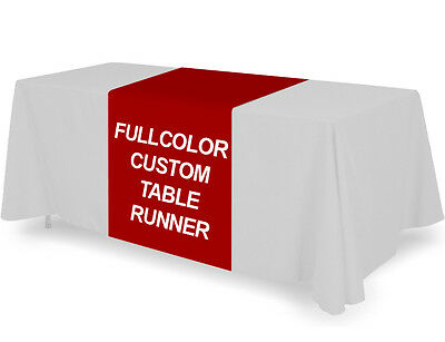 Custom 36x72 Inch Table Cover Runner Trade Show Full Color Tablecloth Runner