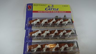 Lot of 15 LIFE-LIKE O Scale 1/48 On3 On30 Hand Painted Cattle