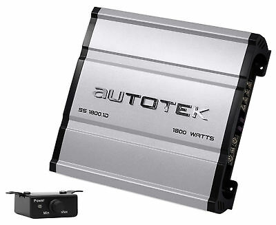 Autotek SS1800.1D Super Sport 1800w Mono Car Audio Amplifier Class D Amp+Remote