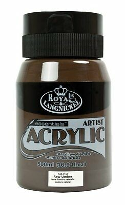Royal & Langnickel RAA-5144 Essentials 500ml Acrylic Paint - Raw Umber