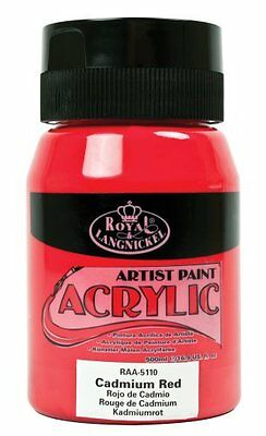 Royal & Langnickel RAA-5110 Essentials 500ml Acrylic Paint - Cadmium Red