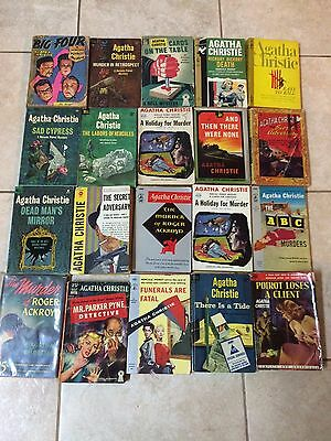 Lot of 20 Agatha Christie mysteries (The Big Four, Murder in Retrospect & More)