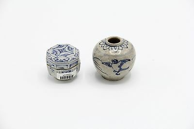 Hoi An Hoard Shipwreck Lot of 2 15th century