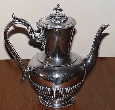 Lovely antique silver plate coffee pot by James Ballantyne of Glasgow