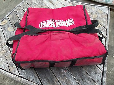 Papa Johns Insulated Pizza Delivery Bag Carrying Case - Large Size - Handles RED