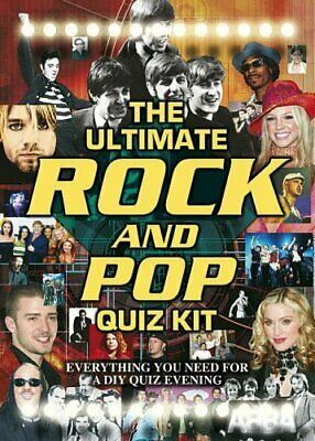 Rock and Pop Quiz (Ultimate Quiz Kit) Hardback Book The Cheap Fast Free Post