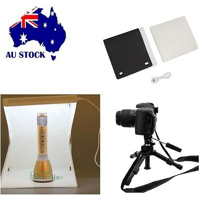 "Portable Light Room Photo Studio 9"" Photography Backdrop Mini Cube Box Tent Box"