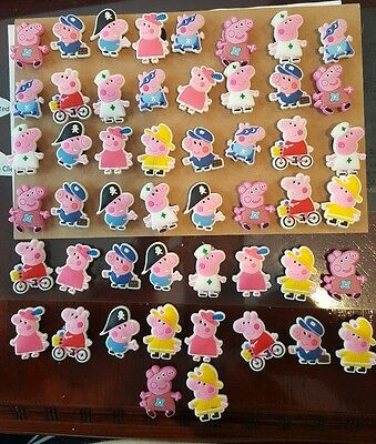 Peppa Pig 50 Piece Assorted Shoe Charms / Jibbitz For Crocs - Great Party Favors