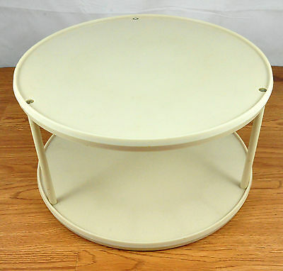 Vintage Rubbermaid Two Tier Ivory Color Lazy Susan Carousel Spice Rack # 2725-13