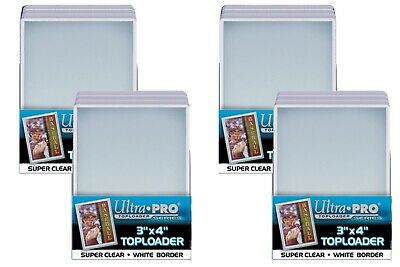 "100 Ultra Pro 3 x 4"" Toploaders with White Border sports card storage protection"