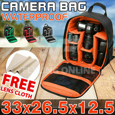 Waterproof Shockproof SLR DSLR Camera Bag Case Backpack For Canon Sony Nikon AU