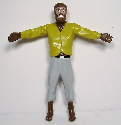THE WOLFMAN UNIVERSAL STUDIOS MONSTERS Bend-Ems Figure LON CHANEY Just Toys 1990