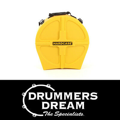 "HARDCASE 14"" Lined Snare Drum Hard Case Yellow *LIFETIME WARRANTY* RRP $199"