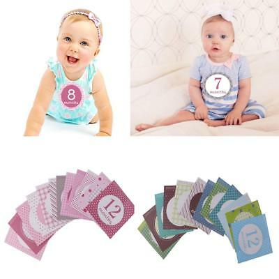 Baby Girl Boy Cloth Monthly Sticker Party Baby Shower Photo Prop 1 to 12 months