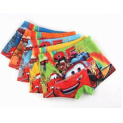 5Pcs Boys Children Underwear Cartoon Cotton Car Panties Boxer Brief Kid Clothing