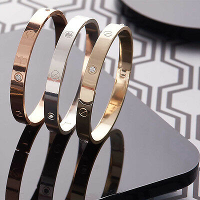 Love Bangle Cartier Inspired - Silver/Rose Gold/18k Gold Plated