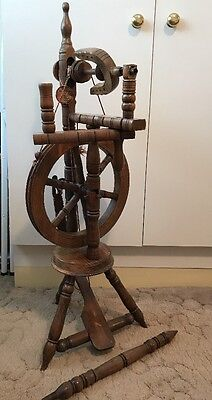 Vintage Priory Hand Waxed Wooden Spinning Wheel