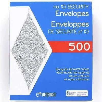 Top 10 Business Envelopes 4-1/8 X 9-1/2 Security White Tinted Paper 24 Lb 500Ct
