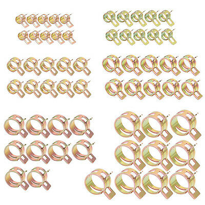 60Pcs 6-15mm Spring Clips Fuel Oil Water Hose Clip Pipe Tube Clamp Fastener New